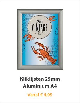 Kliklijst 25mm Aluminium A4
