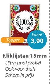 Kliklijsten in 15mm profiel