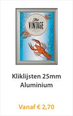 Kliklijst en 25mm Aluminium