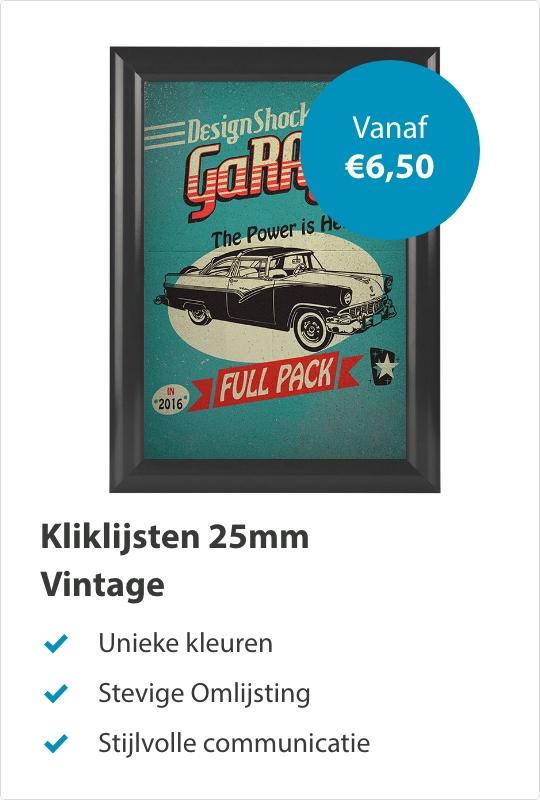 Kliklijsten 25mm Vintage