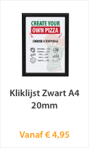 Kliklijst Zwart A4 20mm