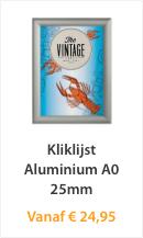 Kliklijst Aluminium A0 25mm