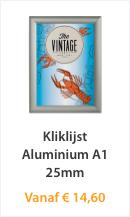 Kliklijst Aluminium A1 25mm