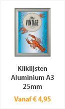 Kliklijst Aluminium A3 25mm